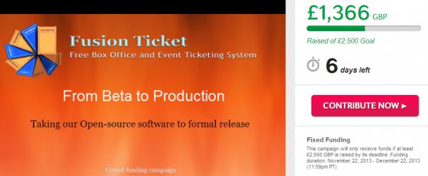 Fusion ticket indiegogo