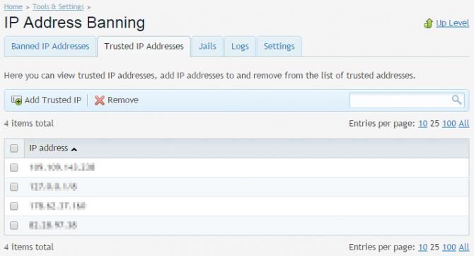fail2ban Plesk trusted IP list