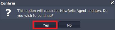 Check New Relic updates